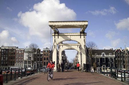Amsterdam Magere Brug Skinny Bridge