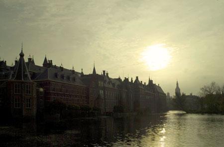 Den Haag Hofvijver The Hague House of Parliament